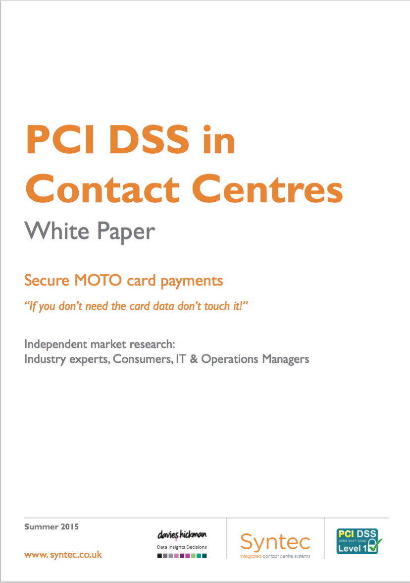 PCI DSS white paper cover